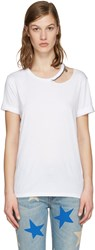 Stella Mccartney White Cut Out Chain T Shirt