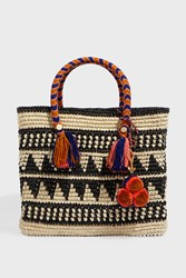 Yosuzi Kali Patterned Medium Straw Tote
