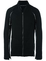 Cedric Jacquemyn Padded Deconstructed Bomber Jacket Black