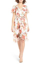 Band Of Gypsies Women's Bp. Floral Wrap Dress Ivory Rose
