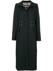 Just Cavalli Single Breasted Fitted Coat Black