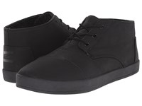 Toms Paseo Mid Black Synthetic Leather Men's Lace Up Casual Shoes
