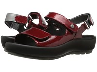 Wolky Rio Red Patent Metal Women's Sandals