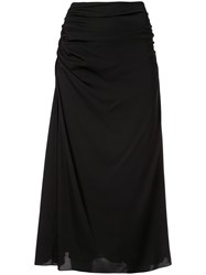 Theory Drape Detail Skirt Black