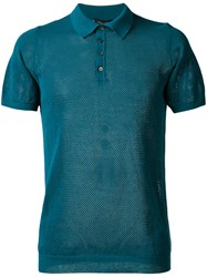 Roberto Collina Net Polo Shirt Green