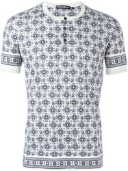 Dolce And Gabbana Monkey Tie Print T Shirt Nude And Neutrals