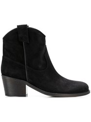 Via Roma 15 Mid Heel Ankle Boots Black