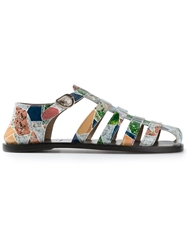 Carven Geometric Printed Sandals Multicolour