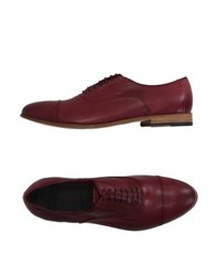 Raparo Footwear Lace Up Shoes Men Maroon