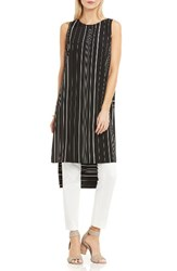 Vince Camuto Women's Stripe Tunic Rich Black