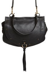 See By Chloe 'Collins' Studded Leather Messenger Bag Black Black Multi