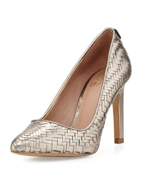 Elliott Lucca Catalina Woven Leather Pump Pyrite