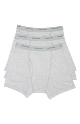 Nordstrom Men's Shop 3 Pack Supima Cotton Boxer Briefs Grey