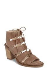 Bos. And Co. Women's Brooke Ghillie Cage Sandal Taupe Suede
