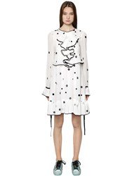 Odeeh Polka Dot Printed Cotton Voile Dress