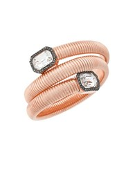 Vince Camuto Holiday Spiral Rose Goldtone Glass Crystal Coil Bracelet