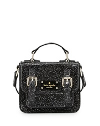 Kate Spade New York Scout Girls' Metallic Patent Leather Crossbody Bag Black