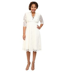 Kiyonna Wedding Belle Dress Ivory Women's Dress White