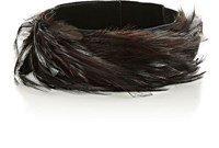 Dries Van Noten Women's Feather Choker Dark Brown