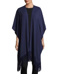 Vince Camuto Fringed Caftan Cover Up Navy