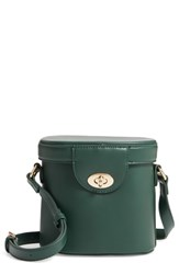 Street Level Faux Leather Bucket Bag Green