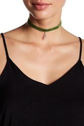 Jules Smith Designs Joplin Pave Leaf Choker Green