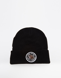 Icon Brand Patch Beanie Hat Black