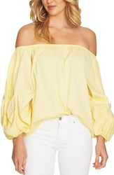 Cece Off The Shoulder Balloon Sleeve Top Finch Yellow