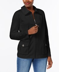 Karen Scott French Terry Active Jacket Created For Macy's Deep Black
