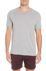 Alo Yoga The Triumph Crewneck T Shirt Grey Triblend