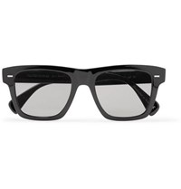 Berluti Oliver Peoples Galleria Square Frame Silver Tone And Acetate Polarised Sunglasses Black