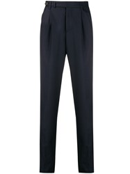 Brunello Cucinelli Tapered Tailored Trousers Blue