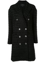 Giambattista Valli Classic Double Breasted Coat Black