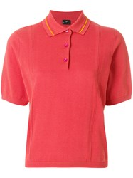 Paul Smith Ps By Short Sleeve Polo Shirt Yellow And Orange