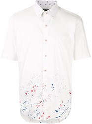 Loveless Paint Splatter Shirt White