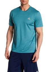 Adidas Heathered Short Sleeve Tee Blue