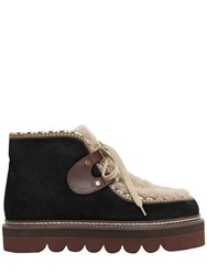 See By Chloe 40Mm Suede And Shearling Boots