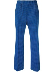Marni All Over Print Trousers Blue