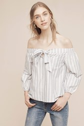 Anthropologie Orley Off The Shoulder Blouse White