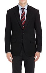 Isaia Gregory Cashmere Two Button Sportcoat Black