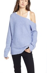 Treasure And Bond One Shoulder Ribbed Sweater Purple Impress