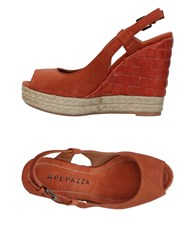 Apepazza Sandals Rust