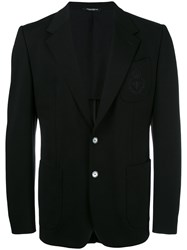 Dolce And Gabbana Bee Crown Embroidered Blazer Black