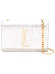 Saint Laurent Classic Monogram Chain Wallet Metallic