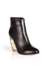 Rupert Sanderson Leather Salome Ankle Boots