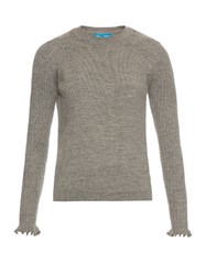 Mih Jeans Harpy Ruffled Cuff Alpaca Wool Sweater Grey
