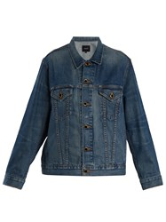 Khaite Cate Oversized Denim Jacket Mid Blue