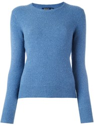 Polo Ralph Lauren Ribbed Crew Neck Jumper Blue