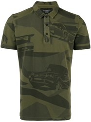 Hydrogen Camouflage Print Polo Shirt Green