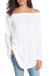 Women's Bp. Off The Shoulder Tunic White